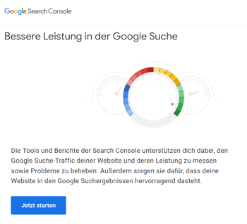 Bei Google Search Console anmelden